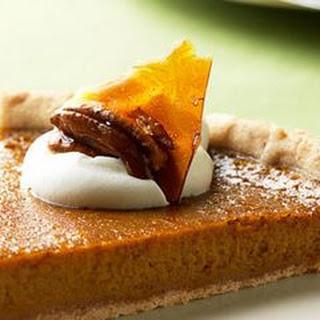 Pumpkin Tart with Pecan Brittle