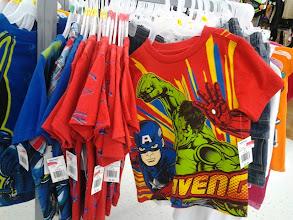 Photo: I was skimming some clearance rakes and found an Avengers shirt, but it was a size too small for my boys.