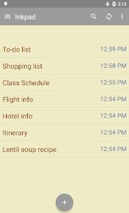 InkPad Notepad - Notes - To do- screenshot thumbnail