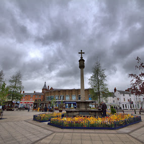 Market Harborough by Michael Topley - City,  Street & Park  Markets & Shops ( market harborouleicestershire, england, ukgh )