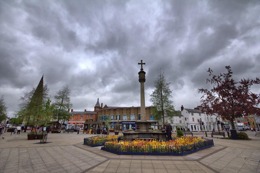 Market Harborough by Michael Topley - City,  Street & Park  Markets & Shops ( market harborouleicestershire, england, ukgh )