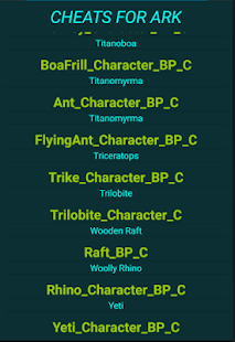 Summary -&gt; <b>Ark</b> Item Id List With Gfi <b>Codes Ark</b> Ids