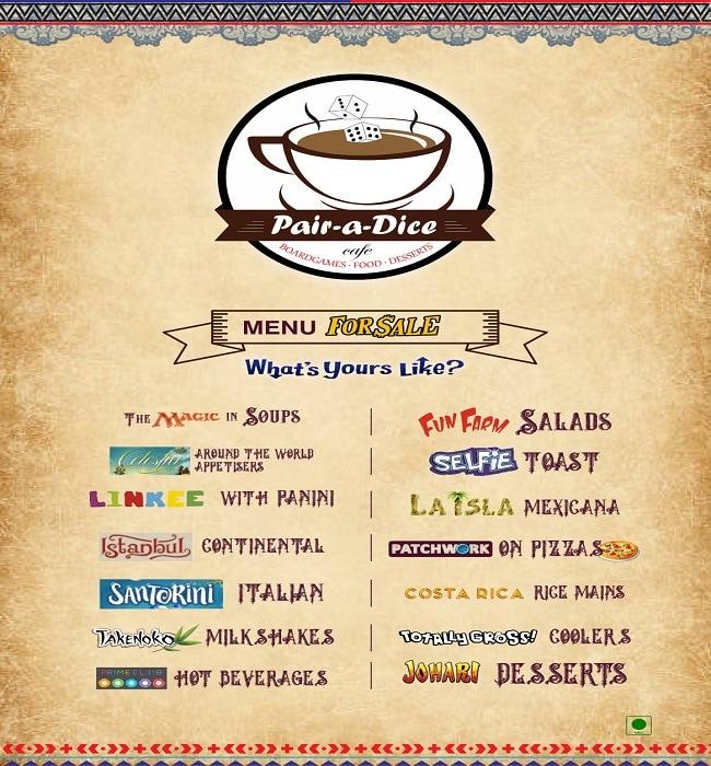 Pair A Dice Cafe menu 9