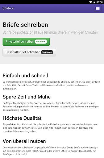 Briefe schreiben u2013 PDF zum Versenden oder Drucken 1.2.1 screenshots 9