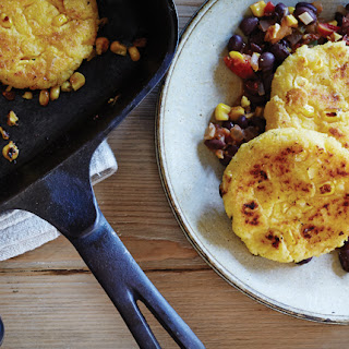 Double Corn Cakes with Black Beans