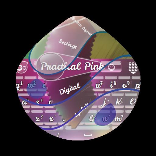 実用的なピンク GO Keyboard 個人化 LOGO-玩APPs