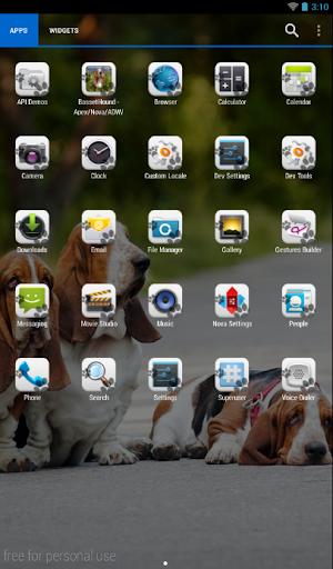 玩免費個人化APP|下載Basset Hound Theme - Nova/ADW app不用錢|硬是要APP