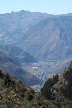 Photo: Pisac y el río Valle del Urubamba