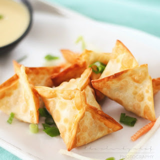 Crab Rangoons with Mustard Sauce