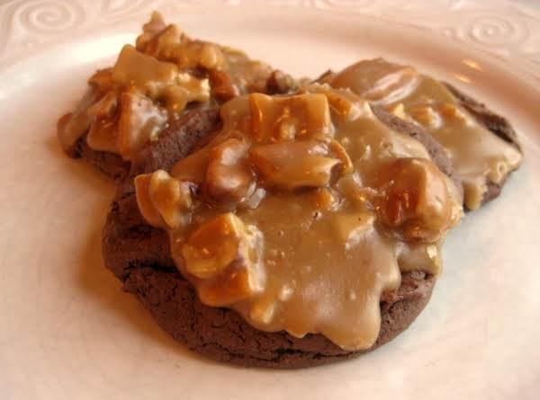 Triple Chocolate Fudge Praline Cookies