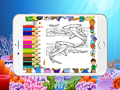 Shark Fish ColoringBook Kids - náhled