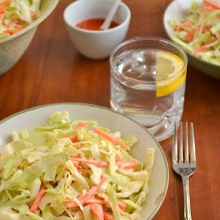 Sweet and Tangy Coleslaw.