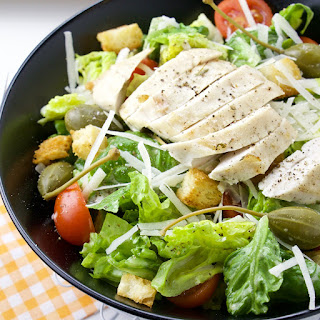 Caesar Salad with Chicken and Capers