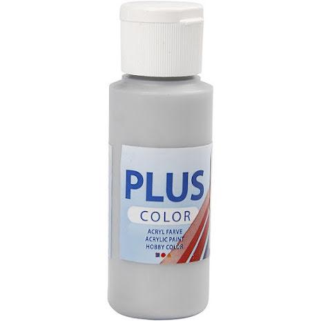 Hobbyfärg Plus color - silver, 60 ml