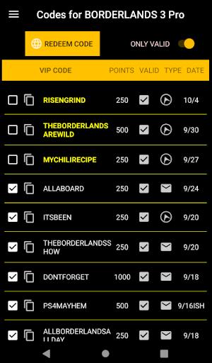 Codes for Borderlands 3 Pro screenshot 1