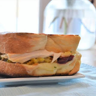 Hearty Leftovers Grilled Sandwich.