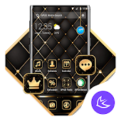 Black Golden APUS Launcher Theme Android APK Download Free By Cool Theme Team