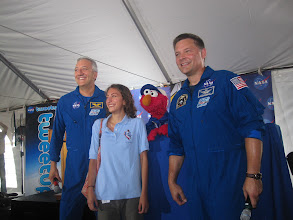 Photo: Mass, his daughter Gabby Massimino, Sesame Street pal Elmo and Astro Wheels!