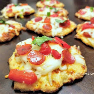 How to make Fat Heads Pizza Bites - The Best Low-Carb Thin Pizza Crust.