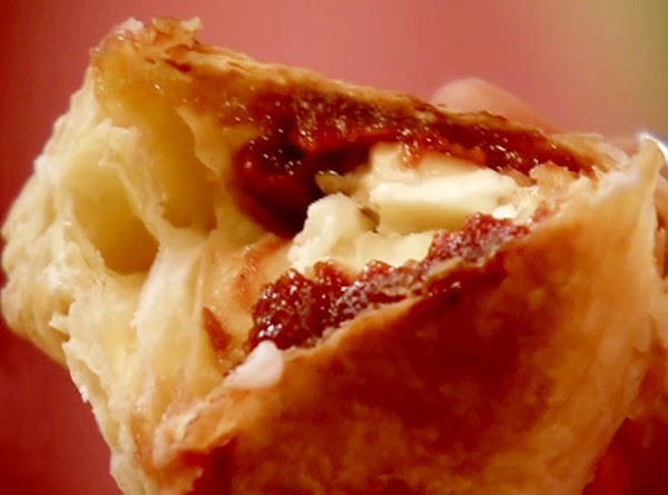 a deliteful pastry with guava and cream cheese ummm ummm.