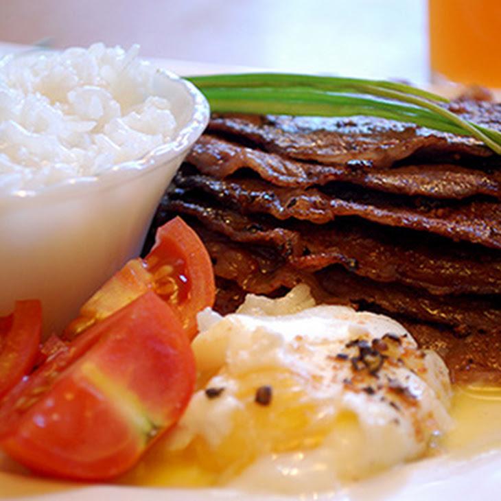 Australian Breakfast Steak with Poached Egg