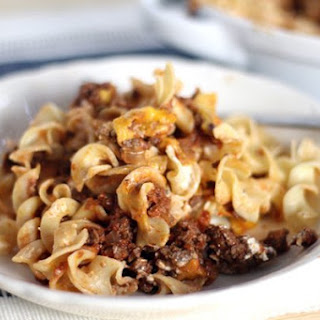Charlene's Beef Noodle Casserole.