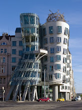 """Photo: Almost every day in Prague we drove past the """"Dancing House"""", the Nationale-Nederlanden building. It was designed by Czech architect Vlado Milunić and Canadian-American architect Frank Gehry."""
