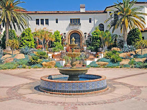 Photo: Hummingbird Nest Ranch -Main Front Fountain -Malibu Tile Works -Design: MTW-Serra