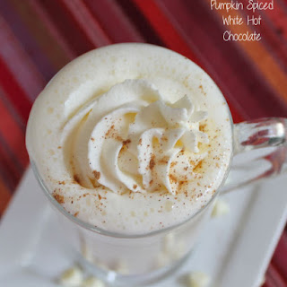 Pumpkin Pie Spiced White Hot Chocolate