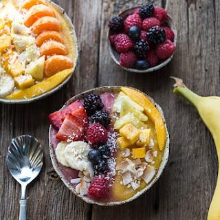 Berry Mango Coconut Layered Smoothie Bowl