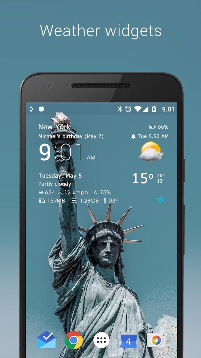 Transparent clock weather Pro Screenshot 17
