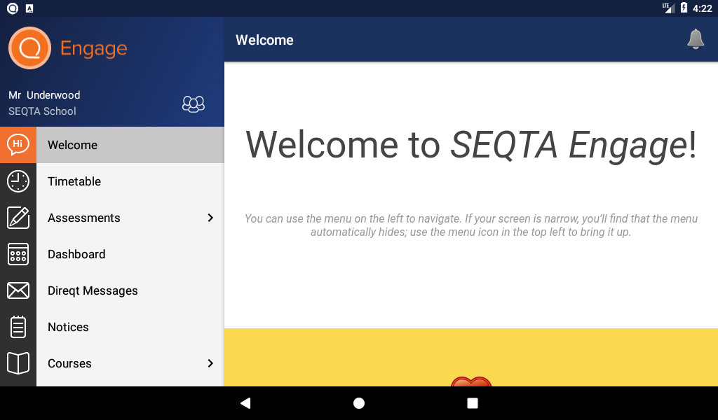 SEQTA Engage- screenshot
