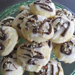 Ricotta Orange Cookies with Dark Chocolate & Hazelnuts