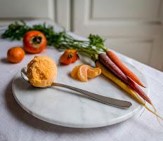 Persimmon Orange Carrot Sorbet