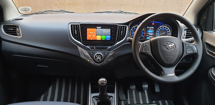 Colourful touchscreen and striped carpets add some verve to the surprisingly spacious cabin. Picture: DENIS DROPPA