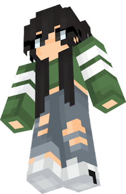 black hair mc skin