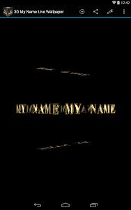 3D My Name Live Wallpaper screenshot 10