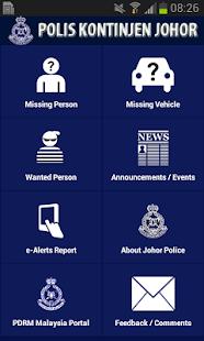 Polis Johor e-Alerts App- screenshot thumbnail