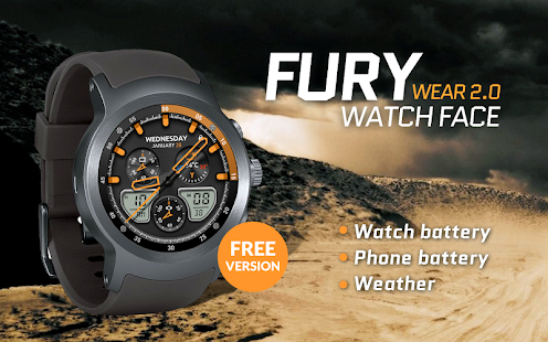 Fury Watch Face - náhled