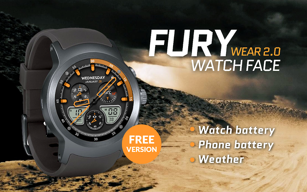 Fury Watch Face Android App Screenshot