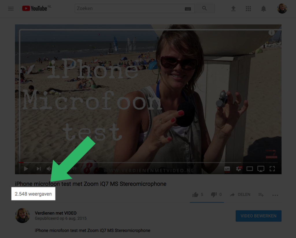 Weergaven YouTube Video