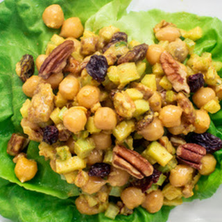 Insanely Simple Curried Chickpea Salad.