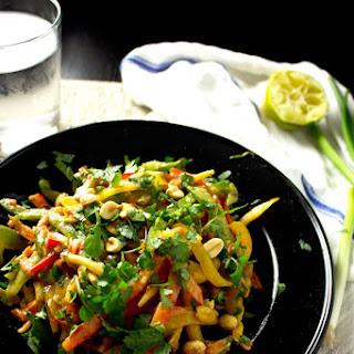 Chopped Thai Salad with Peanut Dressing
