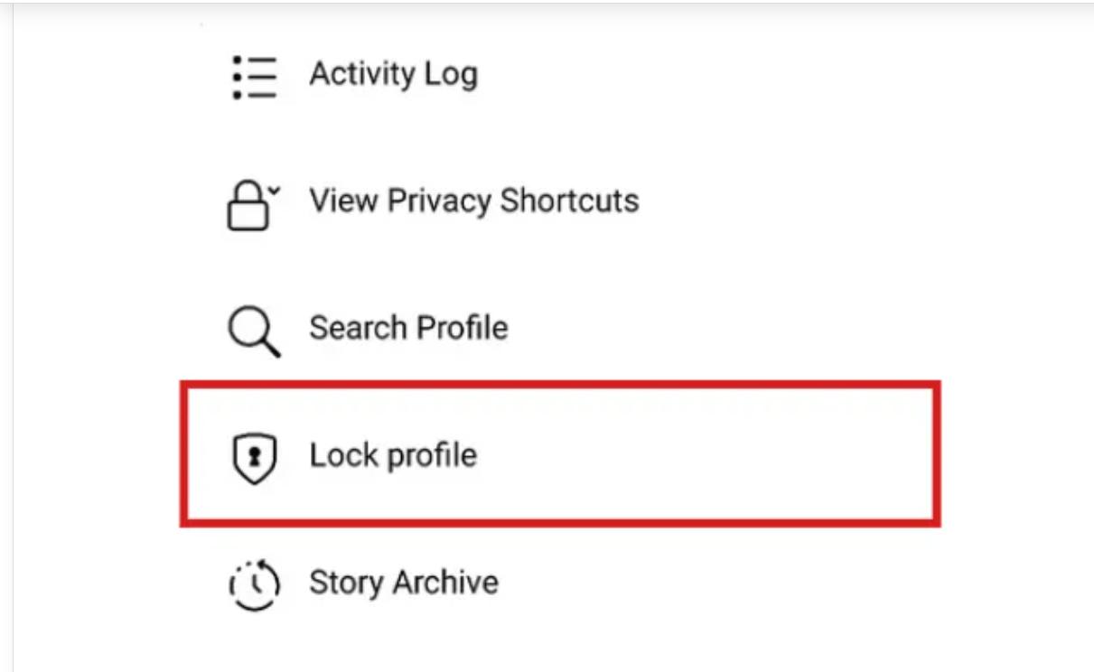 Lock Facebook profile