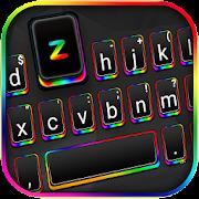 Black Rainbow Light Keyboard Theme