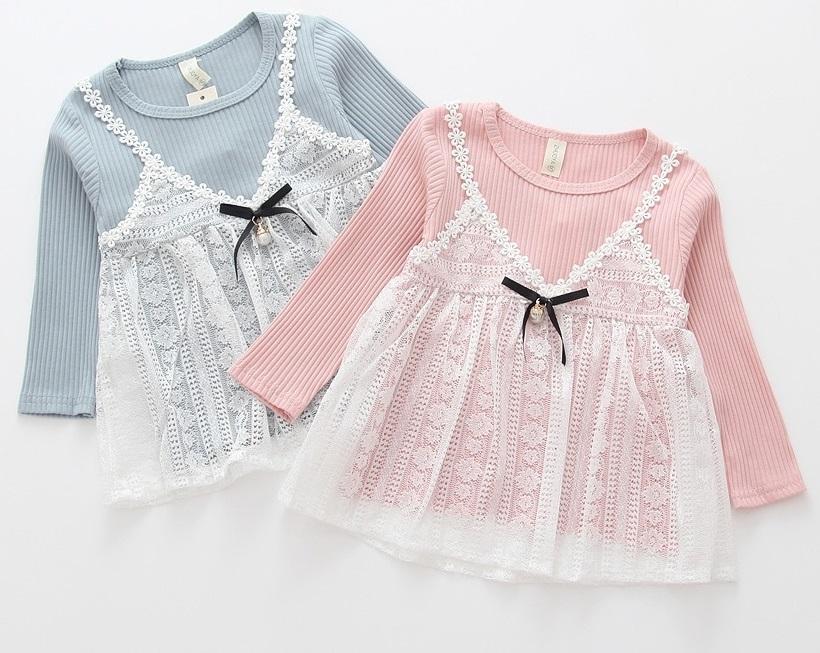 Sukienka z dzianiny dla dziewczynki