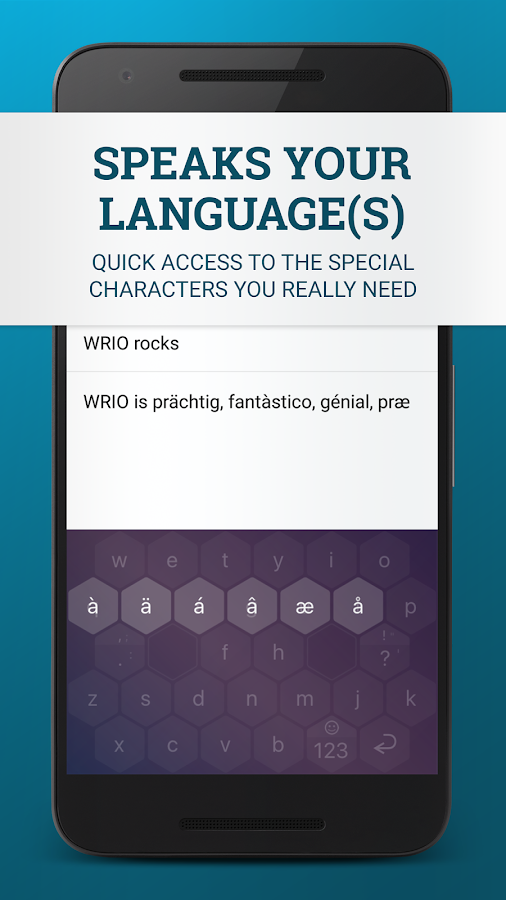 WRIO Keyboard (+2500 emoji)- screenshot
