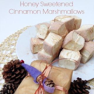 Homemade Honey Sweetened Cinnamon Marshmallows