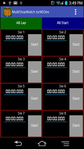 MultiStopWatch byNSDev 1.0.2 Windows u7528 3