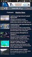 Screenshot of WSPA Weather